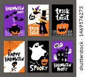 set of cartoon style halloween... | Shutterstock .eps vector #1469576273