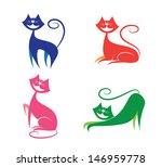set of smiley cats | Shutterstock .eps vector #146959778