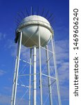 Small photo of GRAPEVINE, TARRANT COUNTY, TEXAS, USA - JULY 24, 2019: Water tower in Grapevine, Texas, USA.