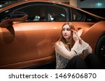 nice woman car driver portrait  ... | Shutterstock . vector #1469606870