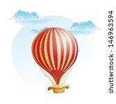 image of the balloon in a strip ... | Shutterstock .eps vector #146963594