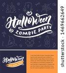 halloween party. october... | Shutterstock .eps vector #1469662649