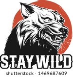 vector head of a angry wolf   Shutterstock .eps vector #1469687609