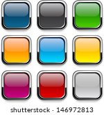 set of blank colorful square... | Shutterstock .eps vector #146972813