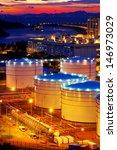 oil tanks at sunset   hongkong... | Shutterstock . vector #146973029