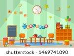 kindergarten classroom interior ...   Shutterstock .eps vector #1469741090