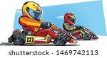 go kart racing. karting... | Shutterstock .eps vector #1469742113