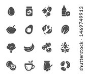 weight loss food vector icons | Shutterstock .eps vector #1469749913