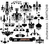 Chandelier Vector Set