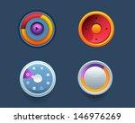 vector web template button ui...