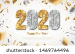 happy new year banner with gold ... | Shutterstock .eps vector #1469764496