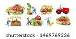 farming flat vector... | Shutterstock .eps vector #1469769236
