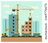 construction site with... | Shutterstock . vector #1469770673