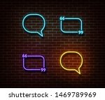 neon message  chat  quote signs ... | Shutterstock .eps vector #1469789969
