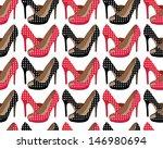beautiful shoes pattern