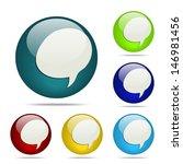 speech balloon sphere button  ...