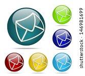 message sphere button   icon