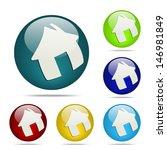 vector home sphere button   icon