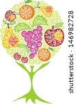 tree fruit apple pear orange... | Shutterstock .eps vector #146982728