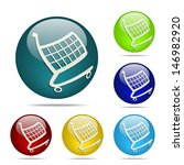 vector shopping cart sphere...