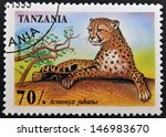 tanzania   circa 1995  stamp... | Shutterstock . vector #146983670