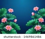 lotus flower background. plant... | Shutterstock .eps vector #1469861486