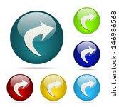 redo arrow sphere button   icon | Shutterstock .eps vector #146986568