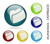 folder sphere button   icon