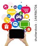 online shopping or shop... | Shutterstock . vector #146986706