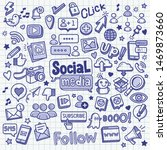 social media related object and ... | Shutterstock .eps vector #1469873660