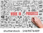 hand is drawing business... | Shutterstock . vector #1469876489