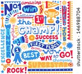 the champ success word doodles  ...   Shutterstock .eps vector #146988704