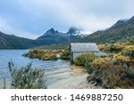Dove Lake Boatshed On An Early...