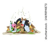 big smelly pile of garbage. bad ... | Shutterstock .eps vector #1469894873