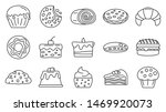 tasty confectionery icons set.... | Shutterstock .eps vector #1469920073