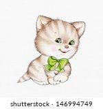 cute kitten | Shutterstock . vector #146994749