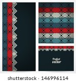 set of seamless pattern and... | Shutterstock .eps vector #146996114