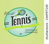 sport league label tennis | Shutterstock .eps vector #146997140
