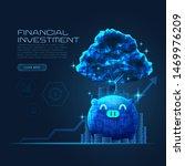 concept art of financial growth ... | Shutterstock .eps vector #1469976209