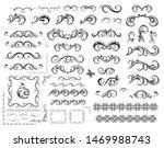 set of decorative vintage... | Shutterstock . vector #1469988743
