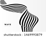 abstract stripe wave with black ...