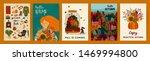 set of cute autumn... | Shutterstock .eps vector #1469994800