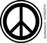 peace sign vector isolated | Shutterstock .eps vector #147002774
