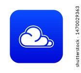 concept cloud icon blue...