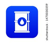 barrel of oil icon digital blue ... | Shutterstock . vector #1470030359