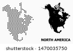 pixelated map of north america... | Shutterstock .eps vector #1470035750