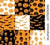 seamless halloween patterns...   Shutterstock .eps vector #147004340
