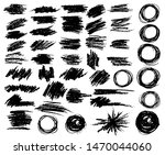 collection of black paint  ink... | Shutterstock .eps vector #1470044060