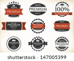 premium quality and guarantee... | Shutterstock .eps vector #147005399