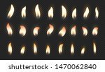 candle flame. realistic fire... | Shutterstock .eps vector #1470062840